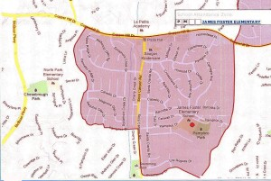 James Foster Elementary School Boundaries 1