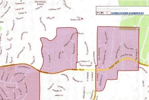 James Foster Elementary School Boundaries 2