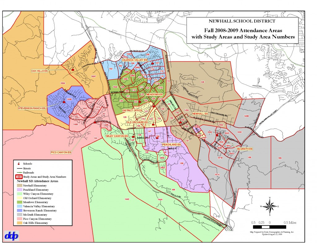 Newhall Elementary District School Attendance Boundary Map