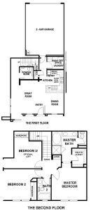 Brookside Walk Tract Residence 3 floor plan - Valencia Creekside
