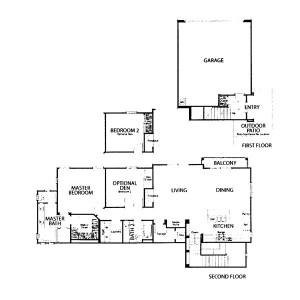 Andorra Tract Residence 1 floor plan Valencia Creekside