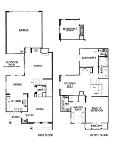 Valencia Creekside townhome Andorra Tract Residence 2 floor plan