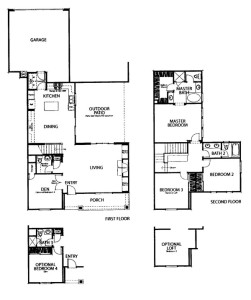 Andorra tract residence 3 floor plan Valencia Creekside Valencia Ca