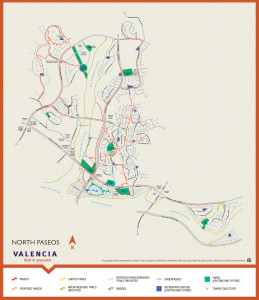 Paseo system map for Valencia Ca - North Valencia Paseio System Map