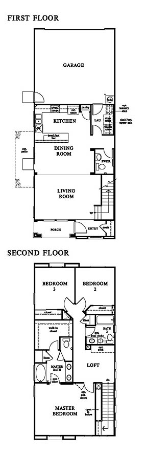 Floor plan for residence 2 of Windsor Collection Valencia Creekside
