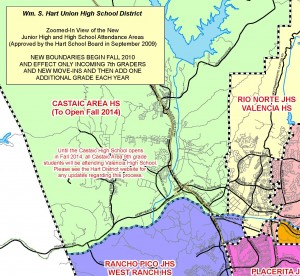 Castaic Middle School attendance boundaries
